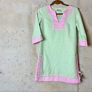 Lolly wolly doodle mint green pink tunic dress